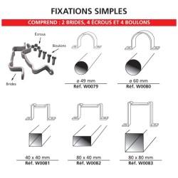 Kit de fixation simple pour panneau de signalisation