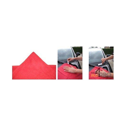Sachet de 5 Micro-Fibres Tricot Laser Auto 40 x 40 cm rouge