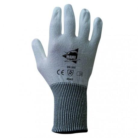 Gants anti-coupure - polyuréthane blanc sur support composite blanc - norme EN 388 4542