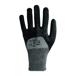 Gants anti-coupure enduction nitrile noir sur dos - norme EN 388 4542
