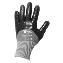 Gants manutention - nitrile HCT noir sur support nylon - norme EN 388 3121