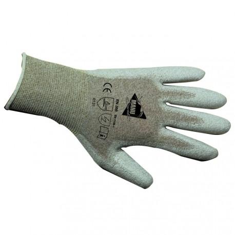 Gants manutention fine - polyuréthane antistatique sur support nylon - normes EN 388 4131 / EN 1149-1