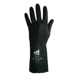 Gants protection chimique 32cm - néoprène flocké coton - normes EN 388 3121 / EN 374 AKL