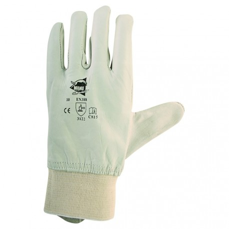 Gants de protection cuir de bovin avec protège artère - norme EN 388 3122