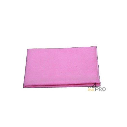 """Microfibre """"Tissé Luxe"""" 40 x 40 cm rose"""