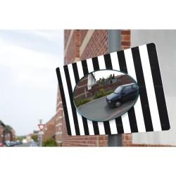 Miroir de sortie sur panneau 85 x 51 cm