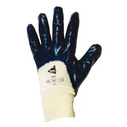 Gants de Manutention lourde - nitrile lourd imperméable dos 3/4 - poignet tricot - norme EN 388 4211