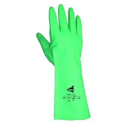 Gants protection chimique 32cm - nitrile flocké coton - normes EN 388 4002 / EN 374 AJK