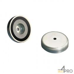 Aimant permanent céramique avec enveloppe acier MP93 Ø 71 mm
