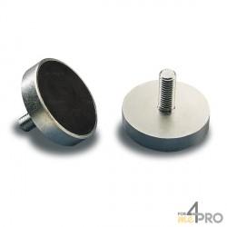 Aimant permanent céramique avec enveloppe acier nickelé MP94 Ø 22 mm