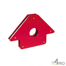 Equerre magnétique plate 90° - 45° 85x85x15 mm
