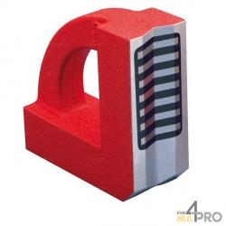 """Equerre magnétique en """"V"""" pour tube 200x200x60 mm"""
