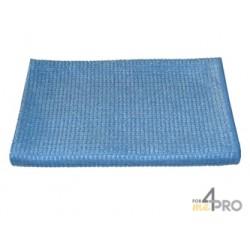 """Microfibre """"Quadri"""" 40 x 80 cm bleue"""