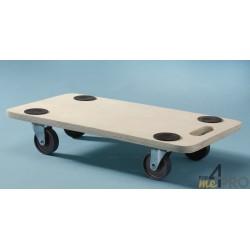 Plateau roulant rectangulaire en bois 35x60cm