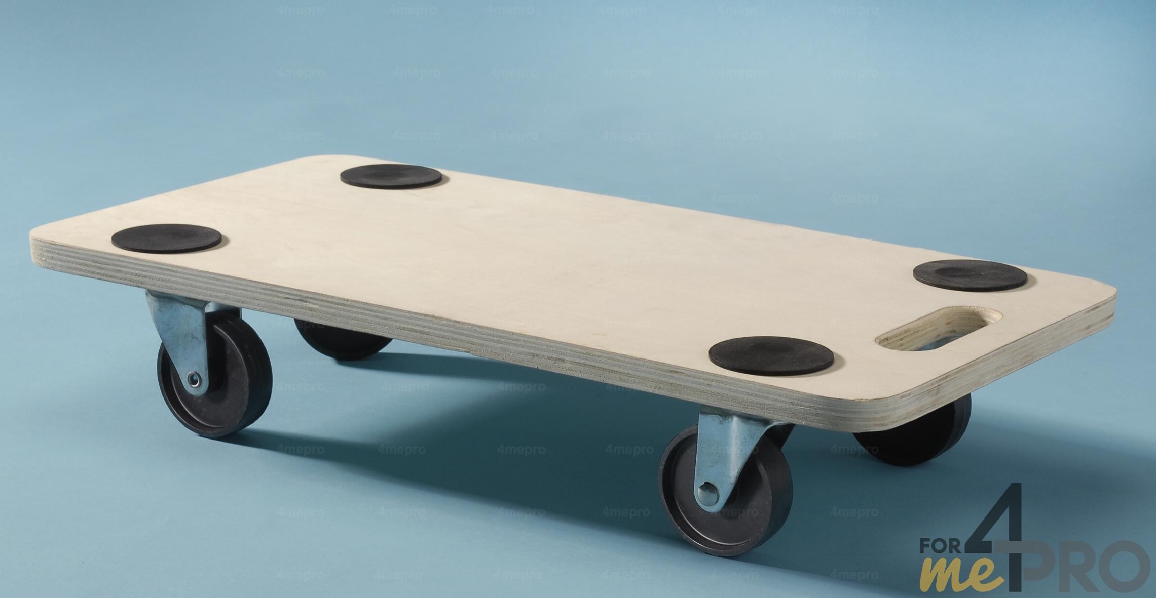 plateau roulant rectangulaire en bois 35x60cm 4mepro. Black Bedroom Furniture Sets. Home Design Ideas