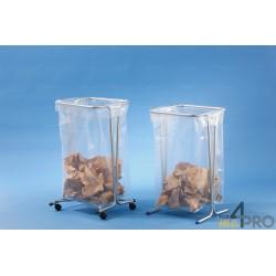 Support sacs poubelle 110 litres sur roulettes