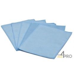 """Microfibre """"Spécial Optique"""" 15 x 20 cm bleu en sachet de 5"""