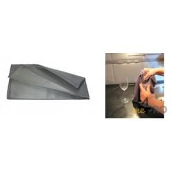 Microfibre ''Metalik'' 40 x 75 cm gris