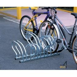 Râtelier vélo au sol face à face - 6 vélos