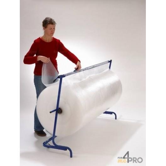 Dérouleur horizontal de papier bulle avec cutter incorporé au dérouleur