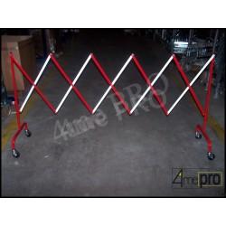 Barrière de chantier télescopique blanc/rouge