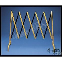 Barrière de chantier télescopique jaune/noir