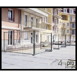 Clôture de chantier galvanisée 3 x 2 m