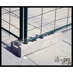 Plot béton pour clôture de chantier