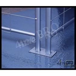 Plot métal à fixer au sol pour clôture de chantier