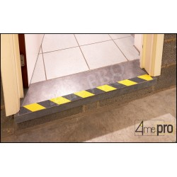 Adhésif signalisation jaune/noir 5m x 50 mm