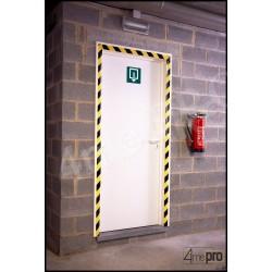 Bande de signalisation adhésive jaune / noir 33m x 50 mm