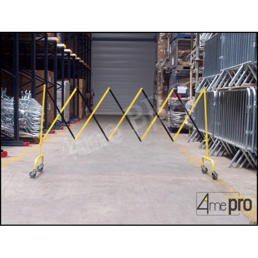 Barrière extensible sur roulettes 285 x 109 cm
