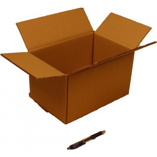 bo te en carton double cannelure 30x20x17 cm. Black Bedroom Furniture Sets. Home Design Ideas