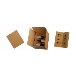 Caisse carton pour 6 bouteilles
