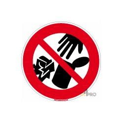Panneau interdition de jeter des déchets