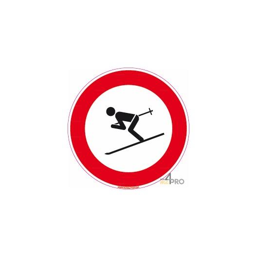 Panneau interdit de skier 4mepro - Panneau signalisation interdiction ...