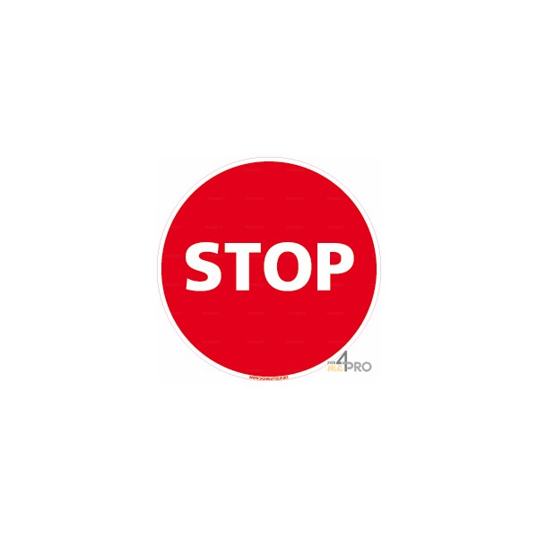 Panneau stop rond 4mepro - Combien de panneau stop a paris ...