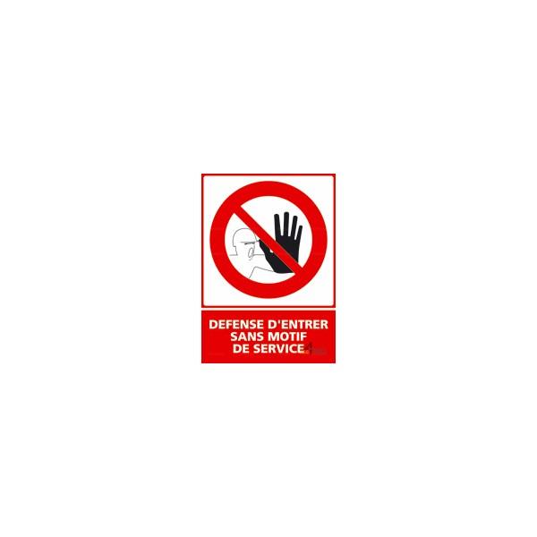 Panneau Défense D Entrer : panneau vertical d fense d 39 entrer sans motif de service ~ Dailycaller-alerts.com Idées de Décoration