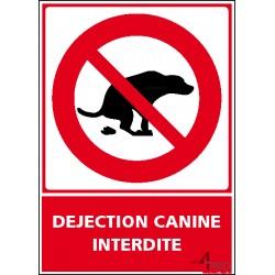 Panneau vertical déjection canine interdite