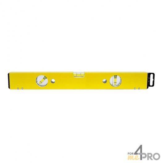 Niveau profil alu jaune aimanté 2 m