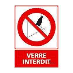 Panneau d 39 interdiction 18 4mepro for Panneau verre exterieur