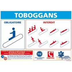 Panneau rectangulaire Toboggans
