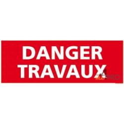 Panneau rectangulaire Danger travaux 2
