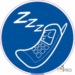 Panneau rond Téléphone en mode silencieux obligatoire 1