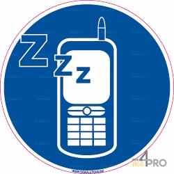 Panneau rond Téléphone en mode silencieux obligatoire 2