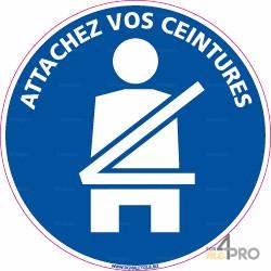 Panneau rond Ceinture de sécurité obligatoire 2