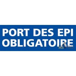 Panneau rectangulaire Port des EPI obligatoire