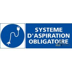 Panneau rectangulaire Système aspiration obligatoire 1