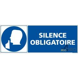 Panneau rectangulaire Silence obligatoire