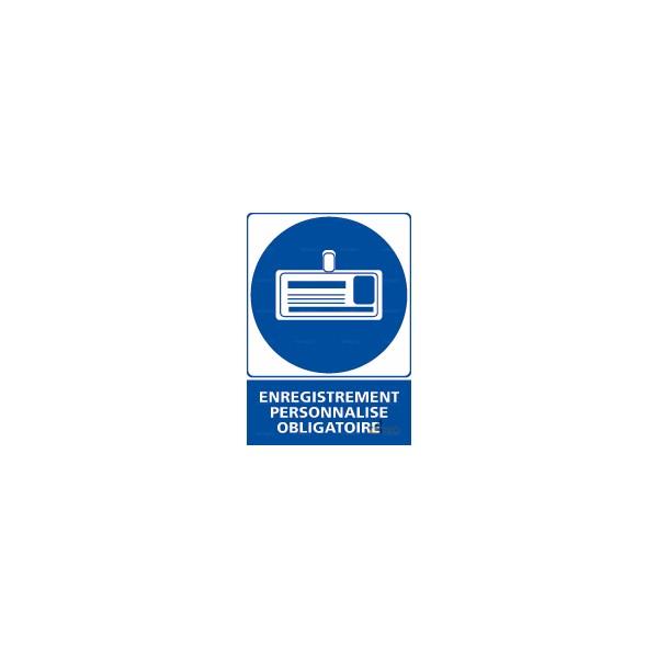 Panneau rectangulaire enregistrement personnalis obligatoire 2 4mepro - Panneau signaletique personnalise ...